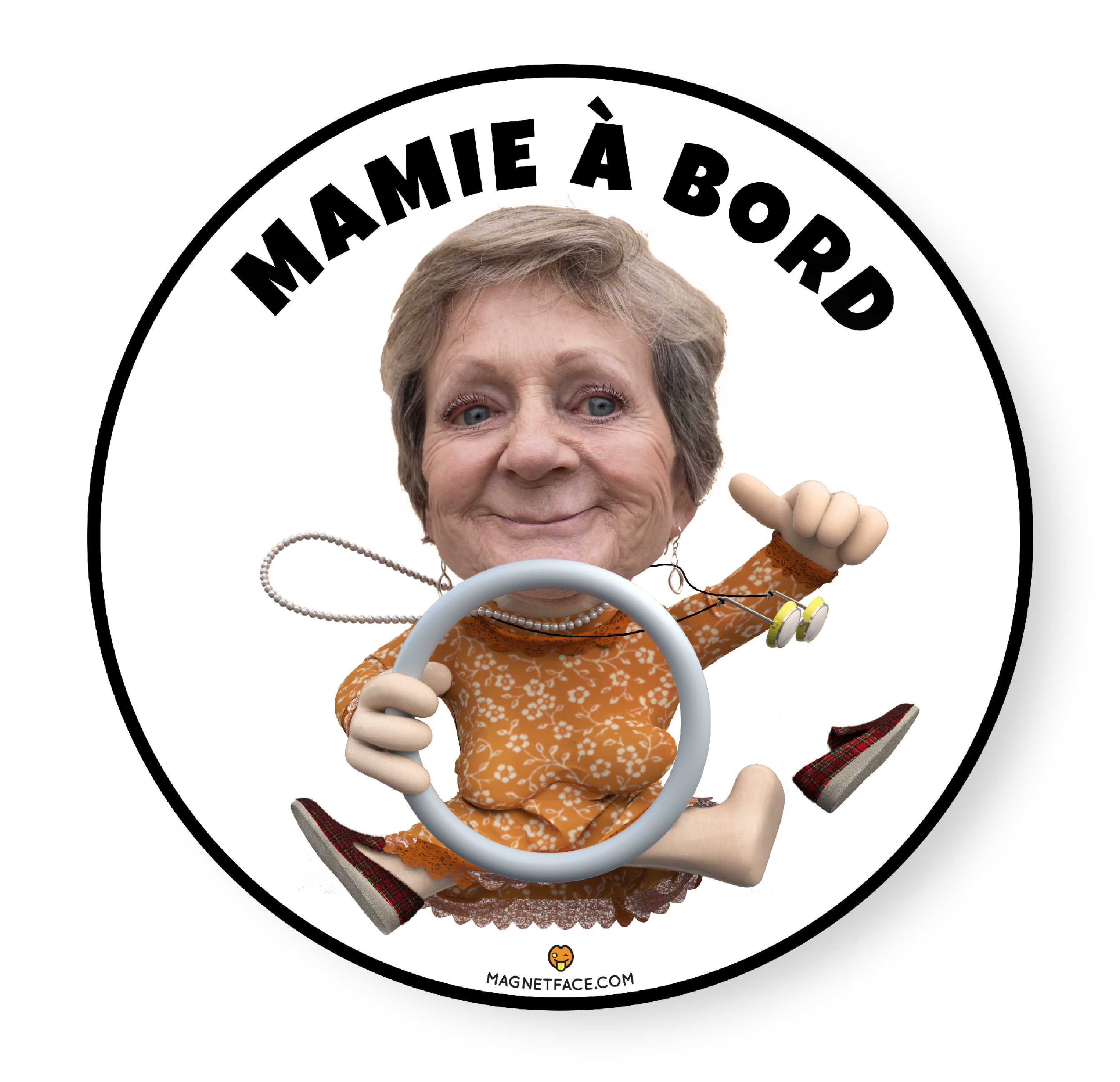 Mamieàbord-MagnetFace